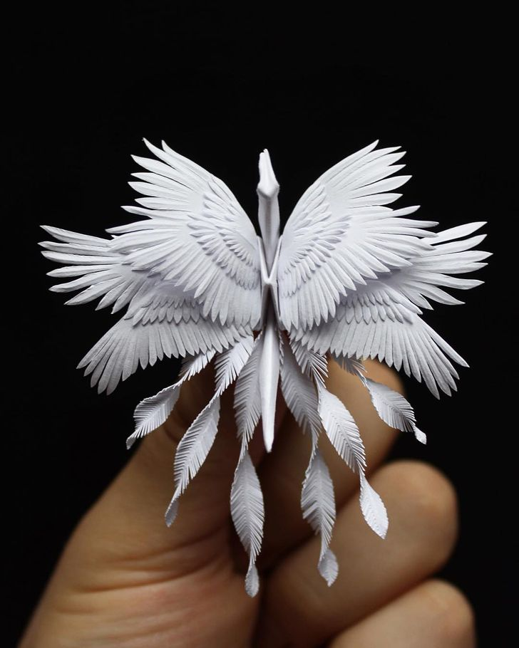 An Artist Sculpts Paper to Create the Most Magical Origami Cranes We've Ever Seen