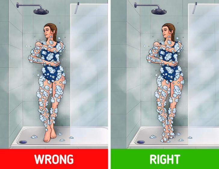 6 častí tela, ktoré by ste mohli pri kúpaní nesprávne umývať