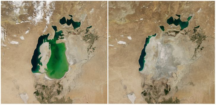 Earth, Then and Now: Dramatic Changes in Our Planet Revealed by Incredible NASA Images