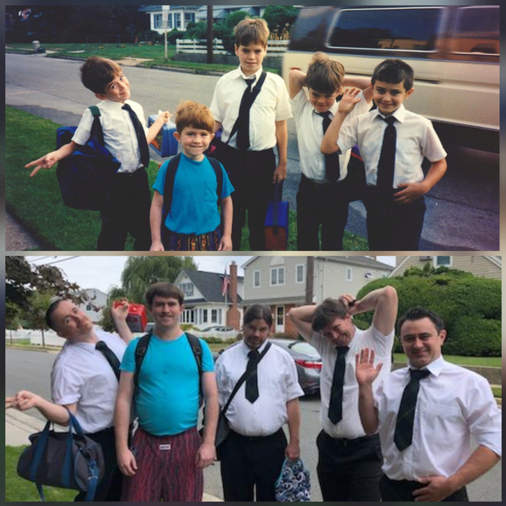 20 People Recreated Their Childhood Photos, and the Whole Internet Liked Them