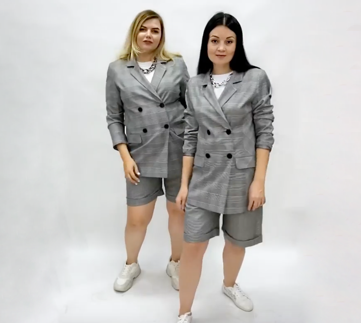 2 Girls of Different Shapes Tried on the Same Clothes and Proved That Style Doesn't Depend on Size