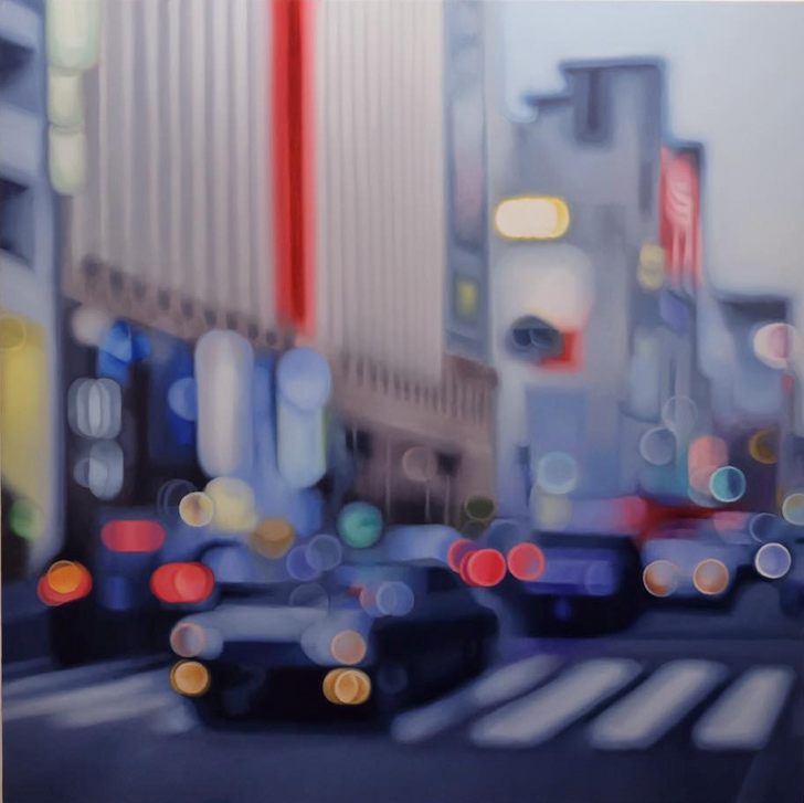 These fascinating paintings show what the world looks like for short-sighted people